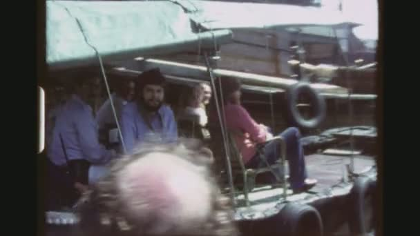 HONGKONG, AP LEI CHAU, MAY 1978. Three Shot Sequence From A Moving Tourist Boat With Everyday Life Impressions Of The Aberdeen Floating Village Community.