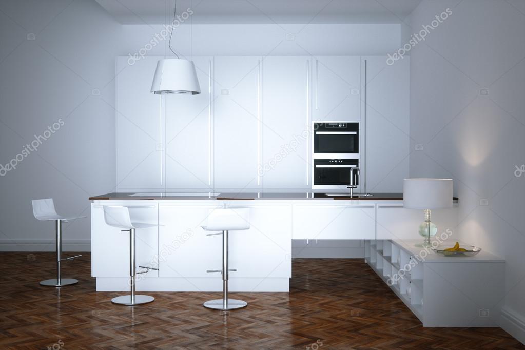 Nuevos muebles de cocina contemporánea blanco en sala minimalista en ...
