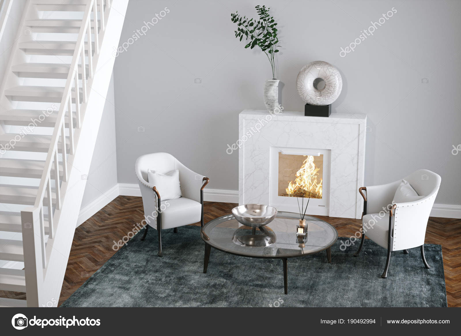 Beautiful Living Room Stairs Adornment - Beautiful Living Room Decor ...
