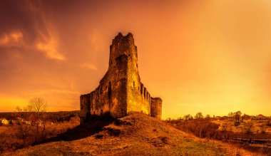 Ruins of Sydoriv castle, Ternopil region, Ukraine