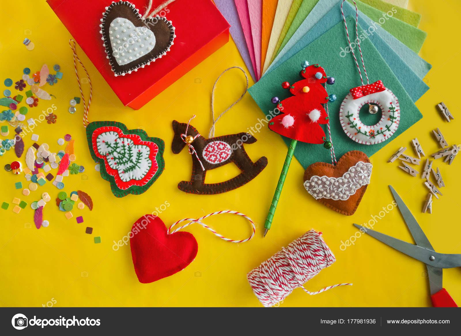 Easy Christmas Craft Adult Kids Make Felt Heart Rocking Horse
