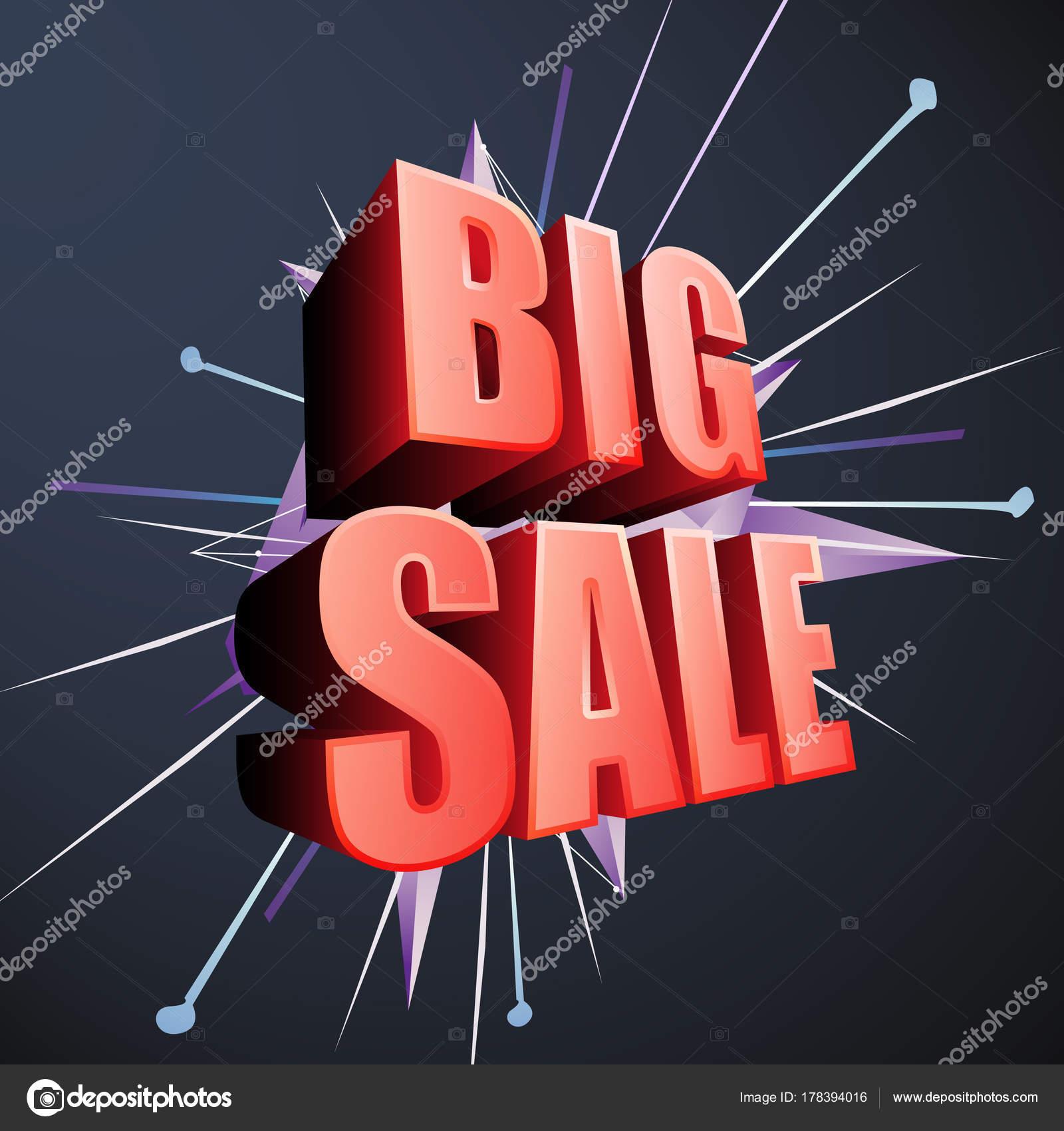 big sale discount vector design banner flyer brochure event promotion stock vector