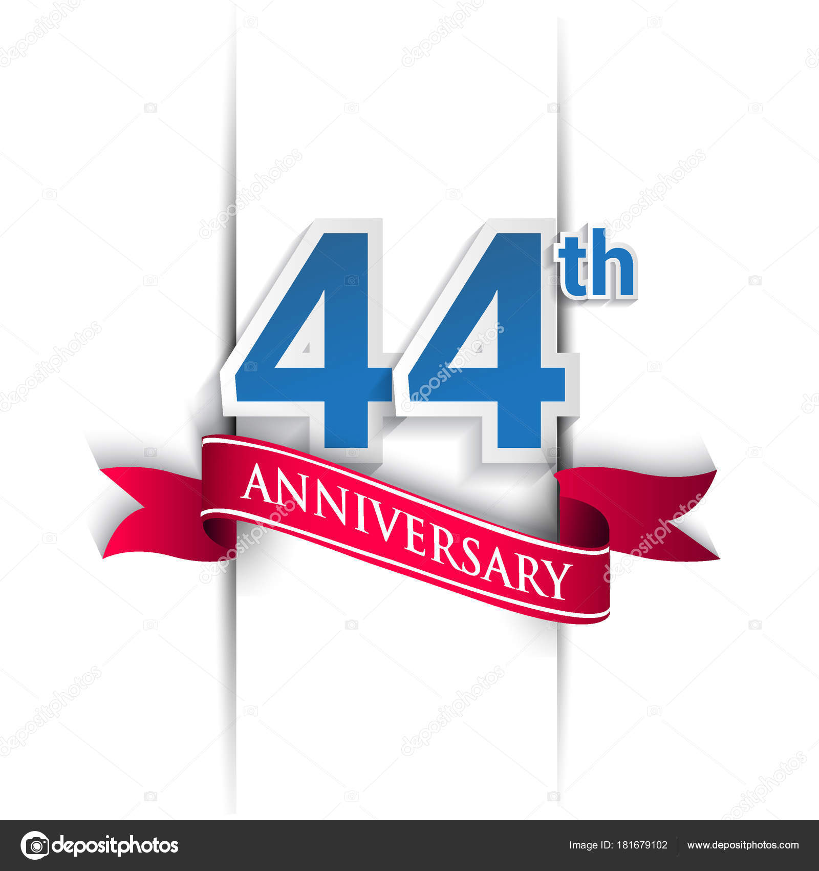 44th anniversary celebration logo vector design template elements 44th anniversary celebration logo vector design template elements your birthday stock vector biocorpaavc Gallery
