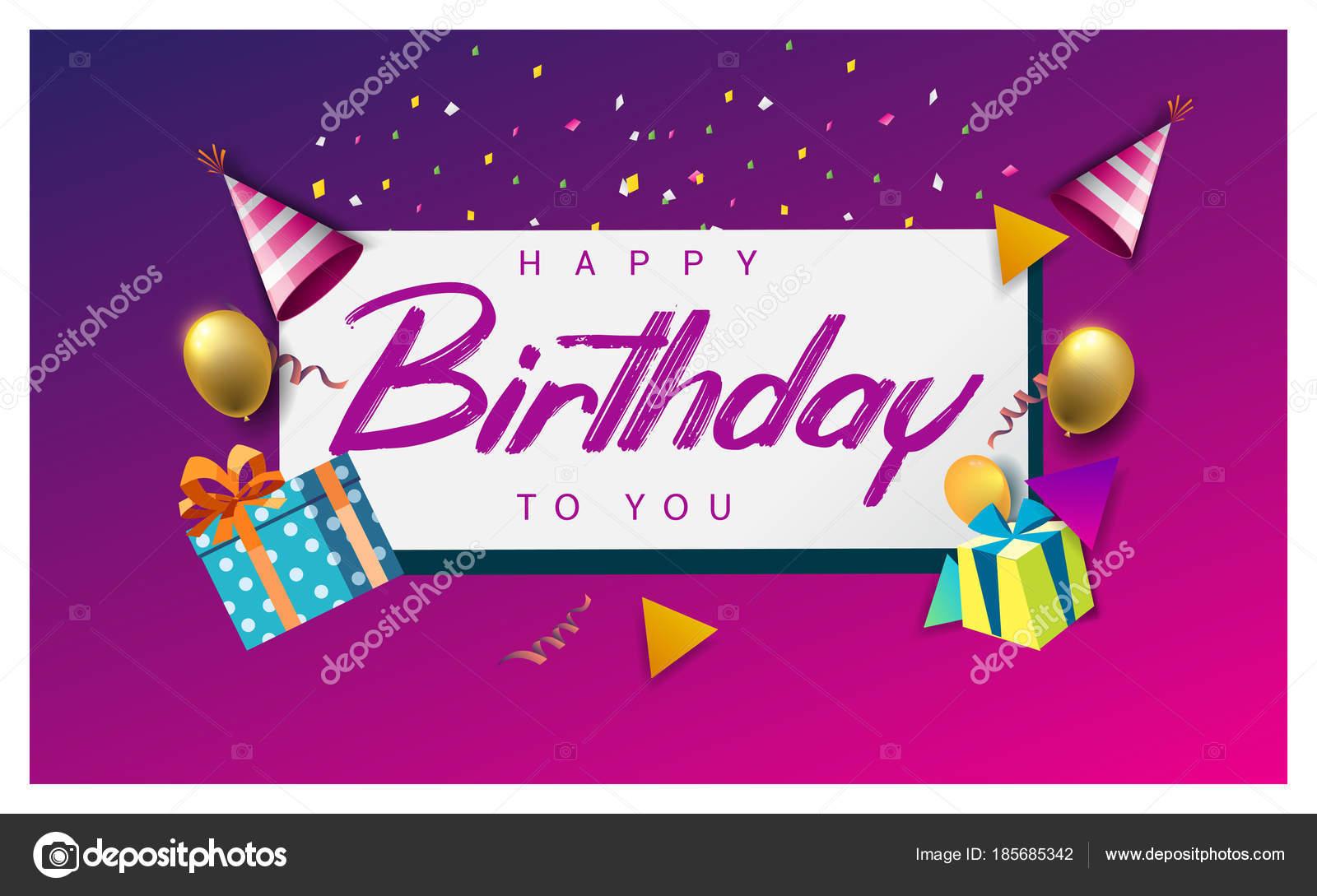 Happy Birthday Typografie Vektor Design Fur Grusskarten Und Poster