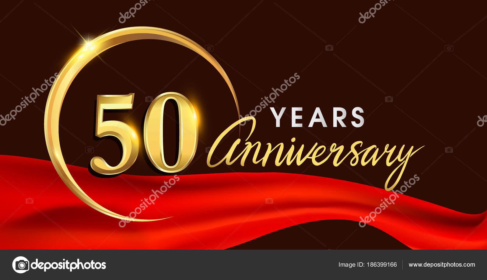 Imágenes Fondos Para 50 Años Logotipo Del Aniversario