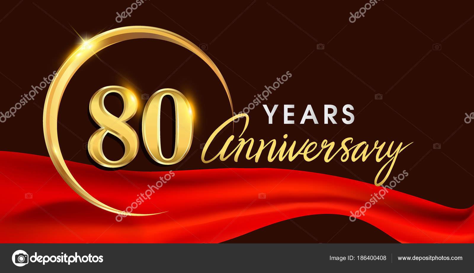 Logotipo Del Aniversario Años Con Anillo Oro Sobre Fondo