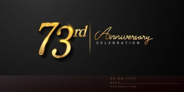 A 73rd Anniversary Celebration Free Vector Eps Cdr Ai Svg Vector Illustration Graphic Art