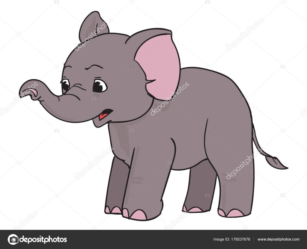 surprised elephant, cartoon — stock vector © magic-zz #178537676