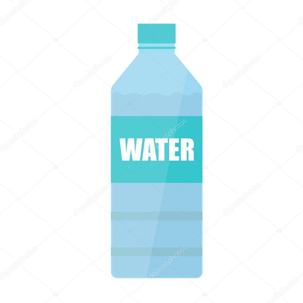 Плоский Дизайн Иконок Вектор Иллюстрация Бутылка Воды ...