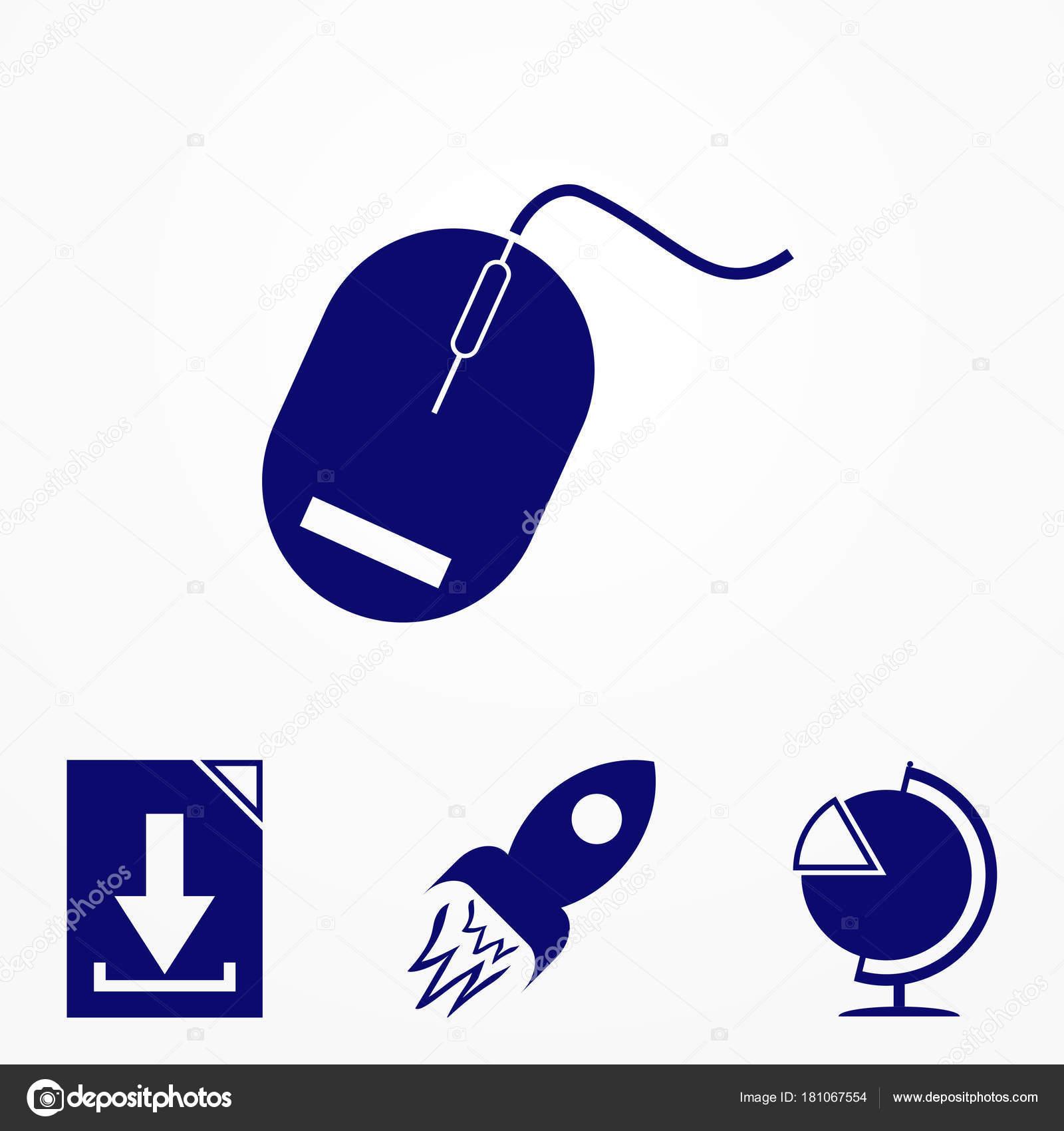 Computer-Maus Symbol im trendigen flachen Stil. Vektor-Illustration ...