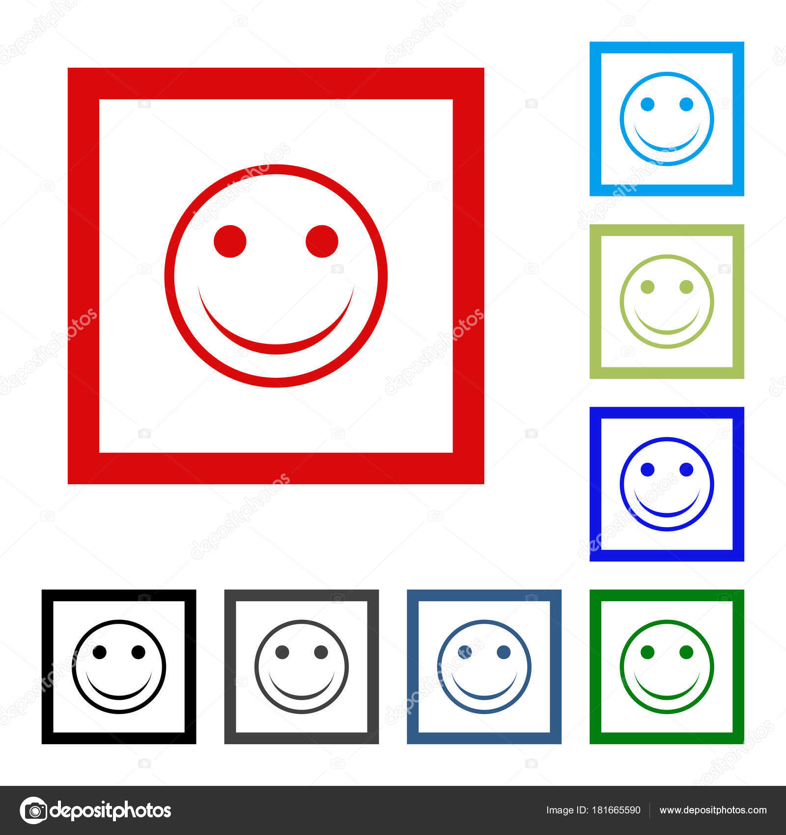 smile icon in trendy flat style happy face symbol for your web site