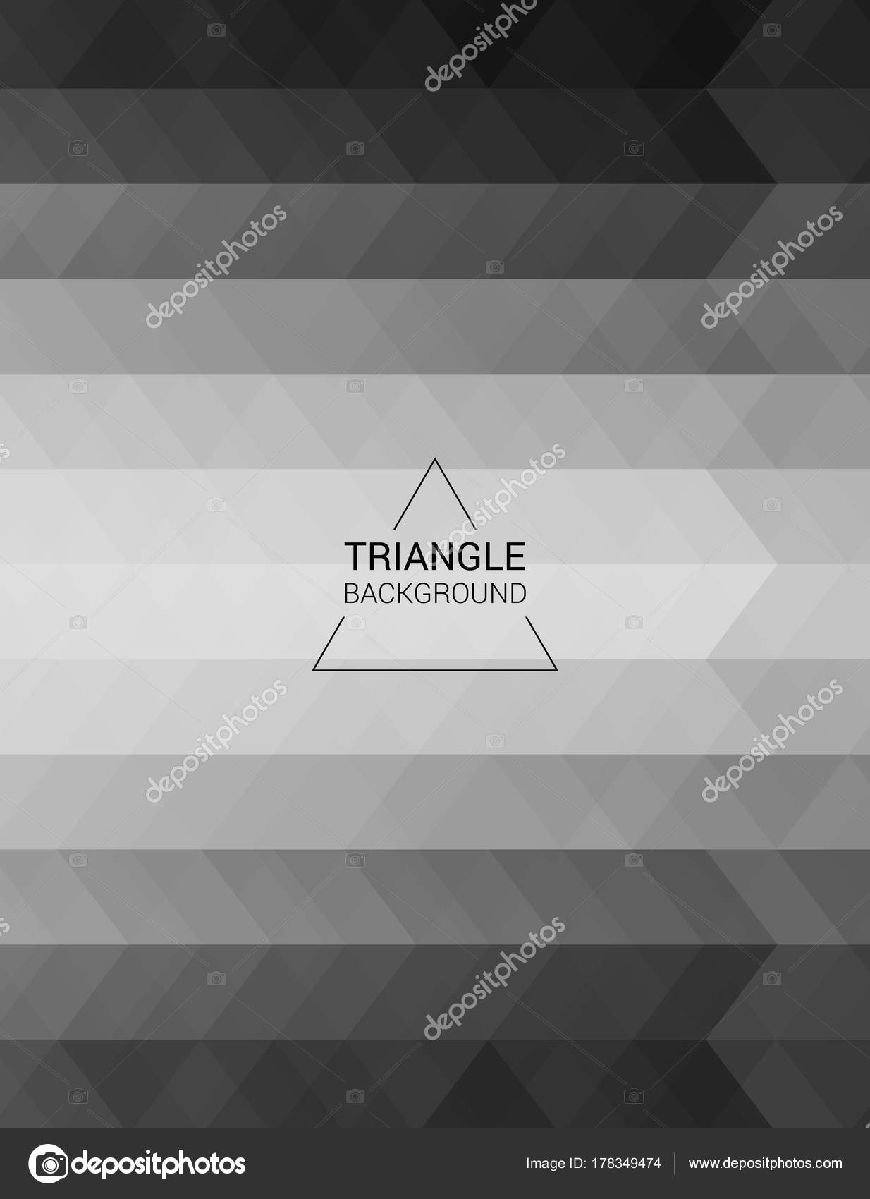 Grid Mosaic Background Polygon Wallpaper Triangular Stock Vector