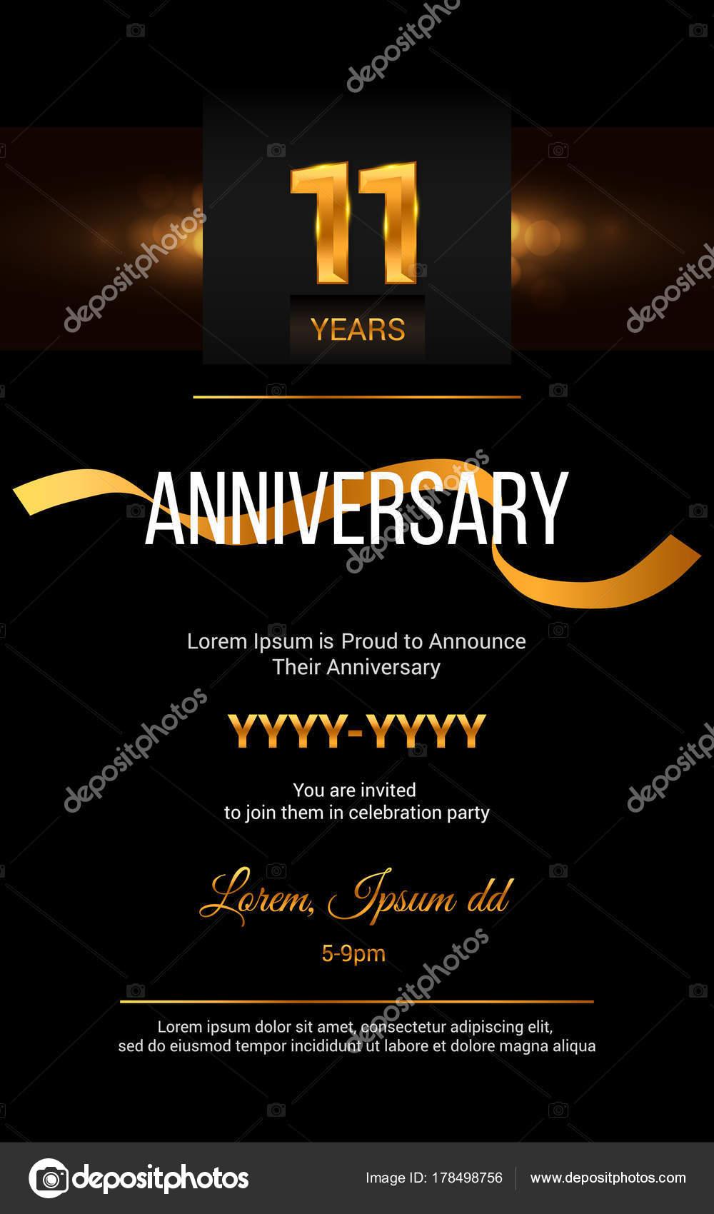 11 years anniversary invitation card stock vector 11 years anniversary invitation card stock vector stopboris Choice Image