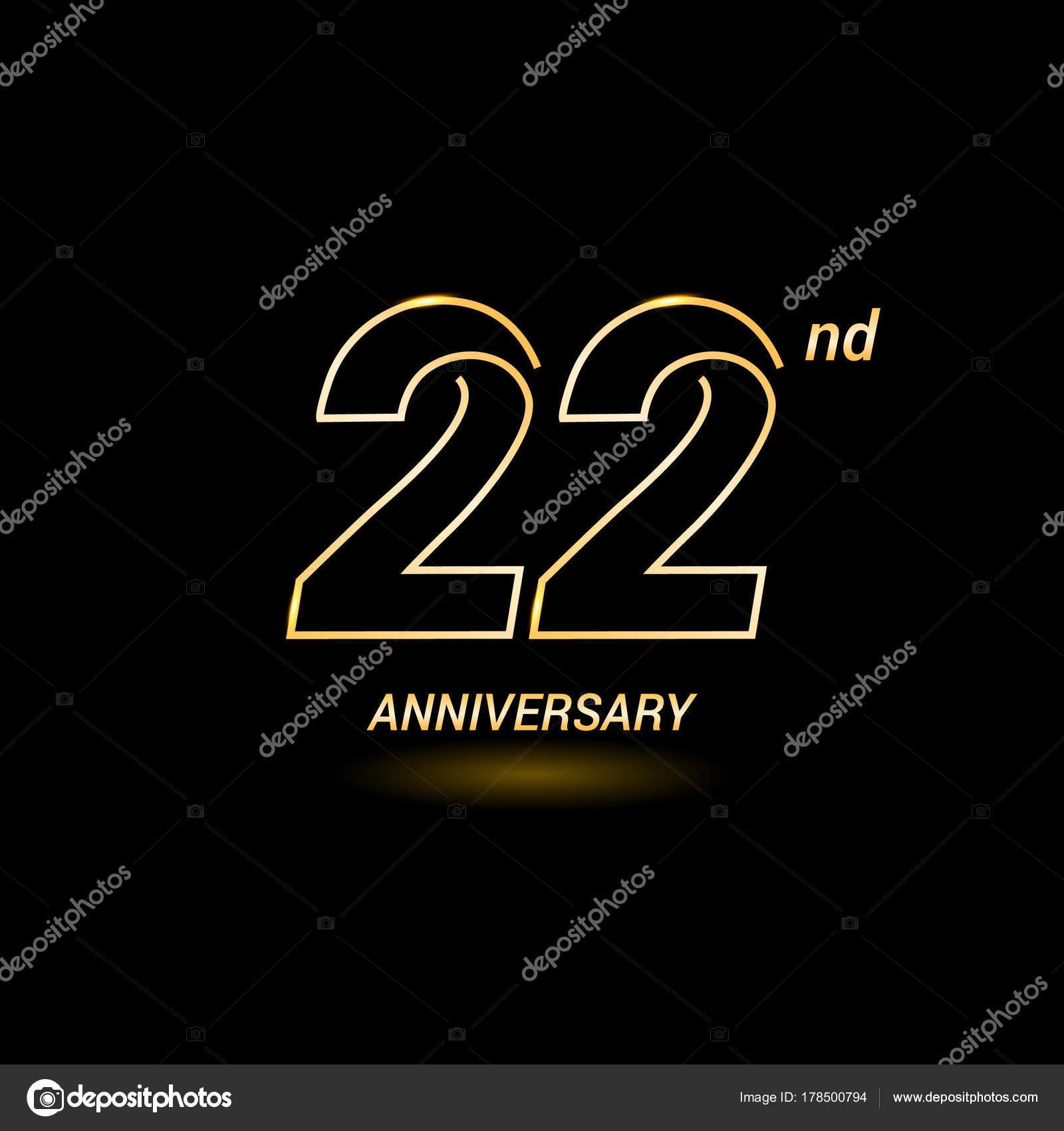 22 years anniversary logo stock vector seklihermantaputra gmail