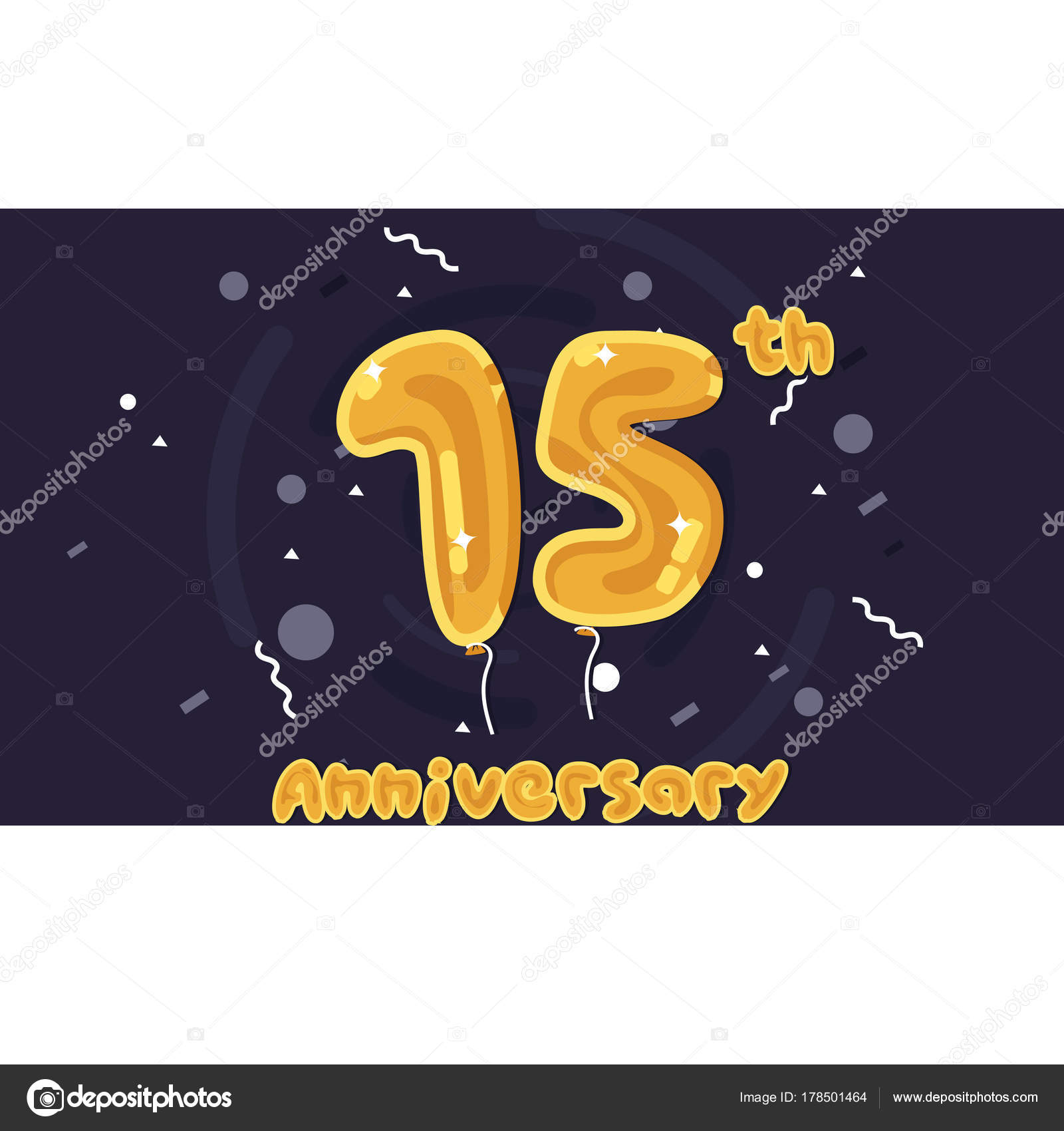 Years Anniversary Celebration Logo Yellow Foil Balloon Colored