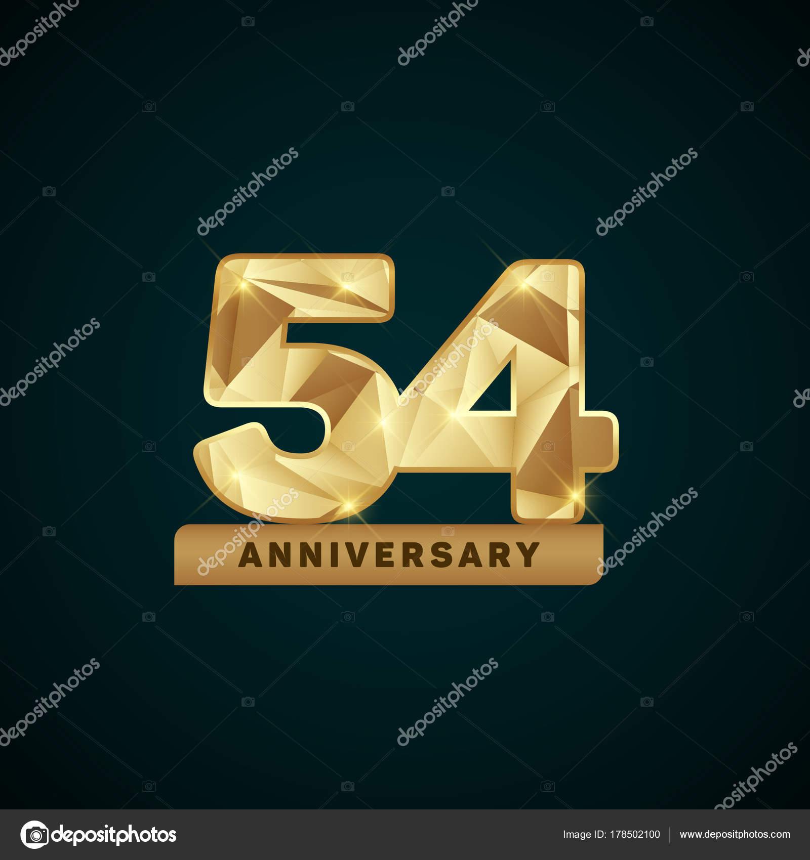 logo anniversaire 54 ans image vectorielle seklihermantaputra 178502100. Black Bedroom Furniture Sets. Home Design Ideas