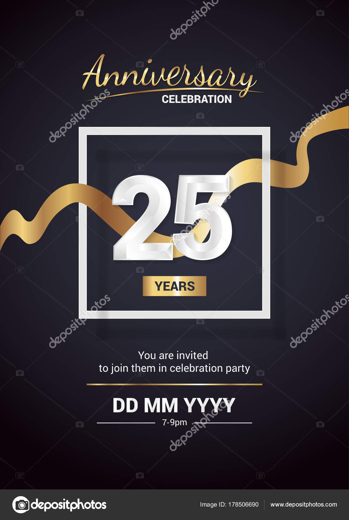 Tarjetas Invitacion Eventos Empresariales Años Aniversario
