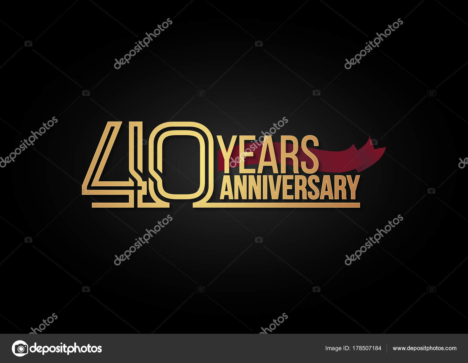 40 Jahre Jubilaum Feier Logo Stockvektor C Seklihermantaputra