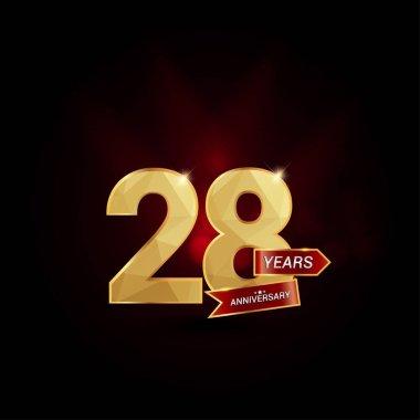 28 Years Golden Anniversary Logo
