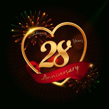 28 years anniversary logo