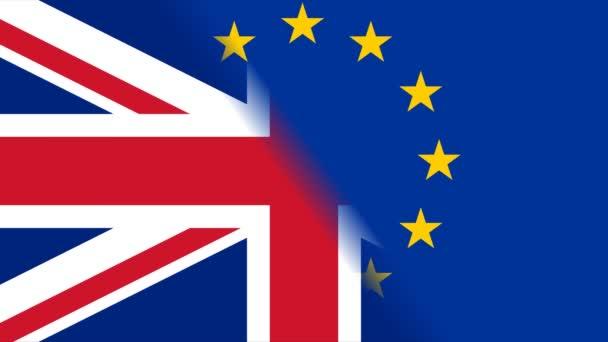 Brexit EU i GB Flags rotate