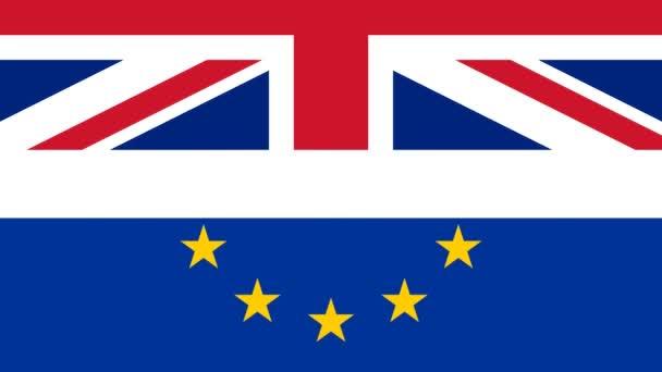 Brexit uk eu Referendumskonzept mit Flaggen und aktuellen Botschaften: Brexit-Ergebnisse