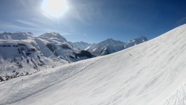 Beautiful view of  ski slope at French Alp