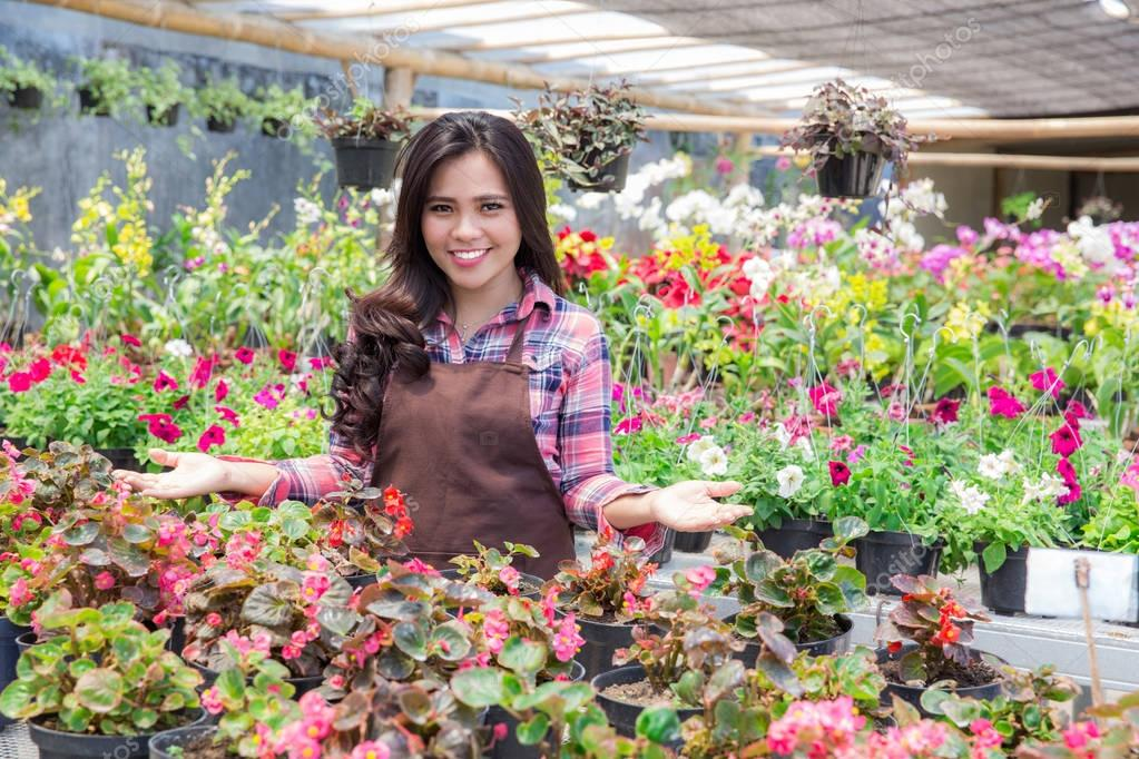Smiling Woman Florist