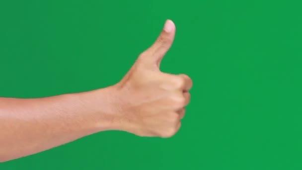 hüvelykujj fel zöld képernyő