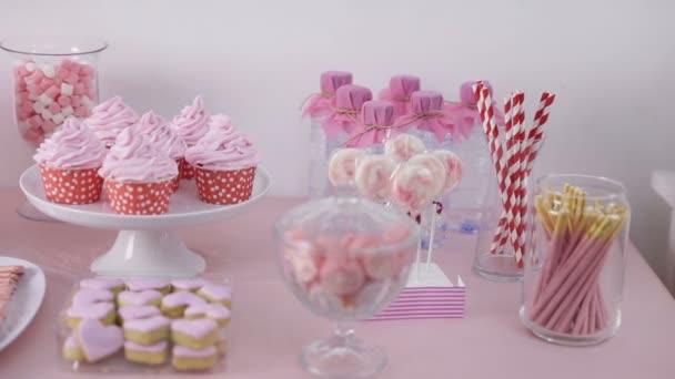 Süße Ecke einer Geburtstagsparty