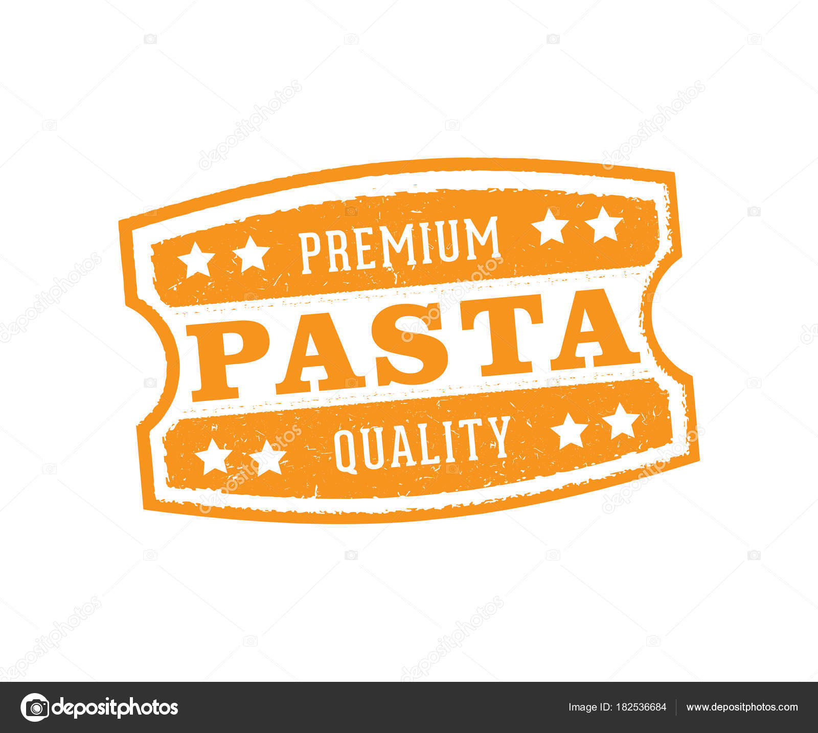 vector label badge stamp tag design for pasta product marketing
