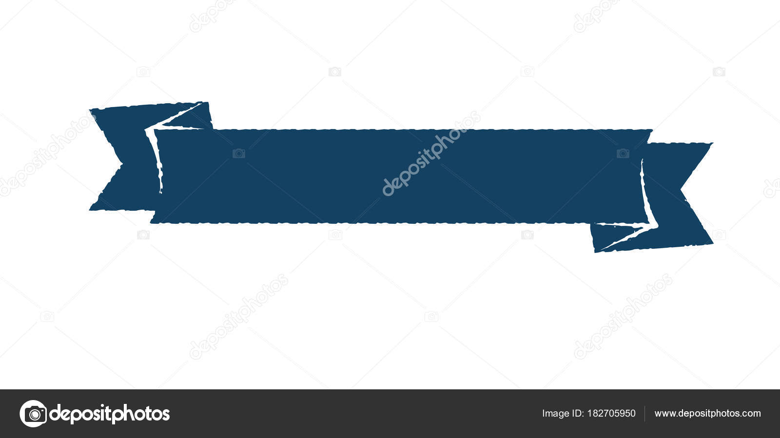 Blank Single Vintage Rustic Blue Ribbon Banner Scratched Vector By Great19