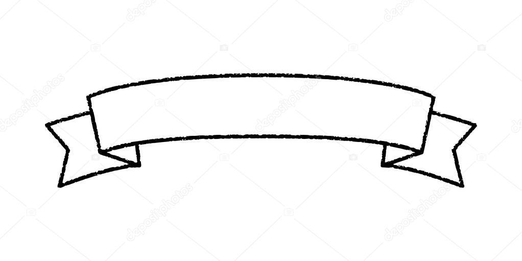 Single blank vintage ribbon banner vector logo design ...