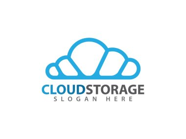 vector online cloud storage logo design