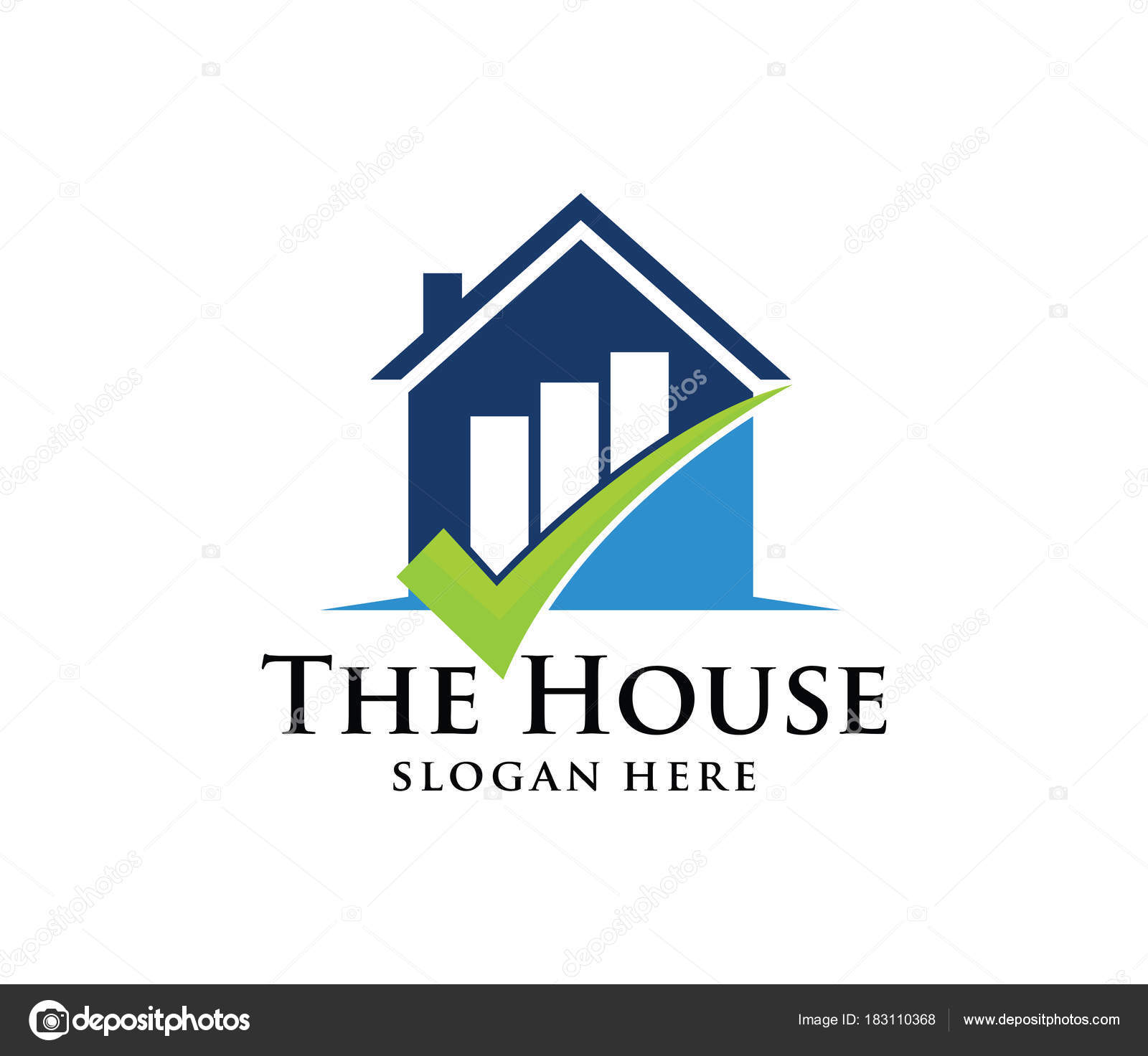 Vector Logo Design House Home Real Estate Rising Chart Perfect ...