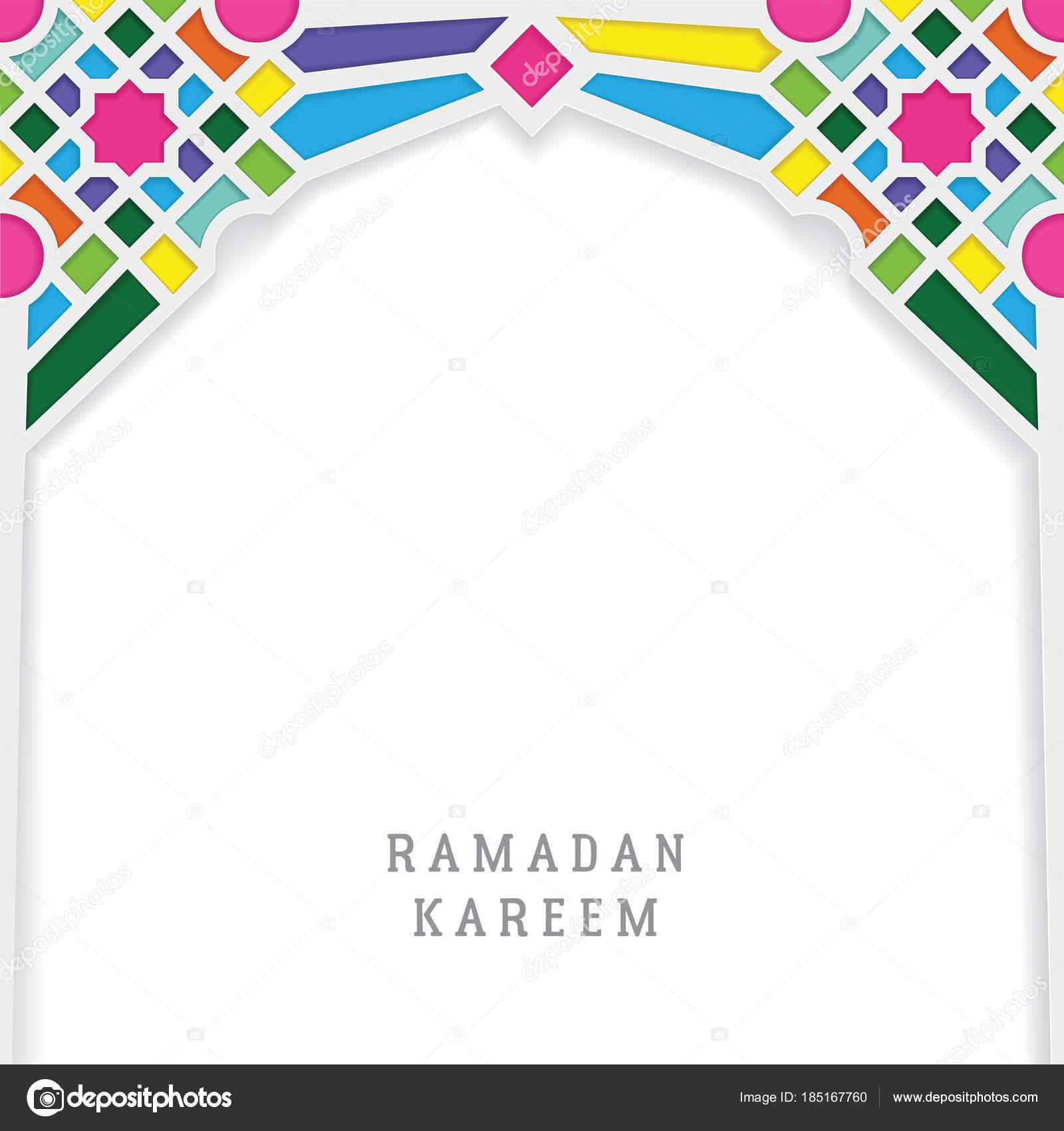 Ramadan Kareem Greeting Card Template Vector Design With Moroccan - Greeting card template