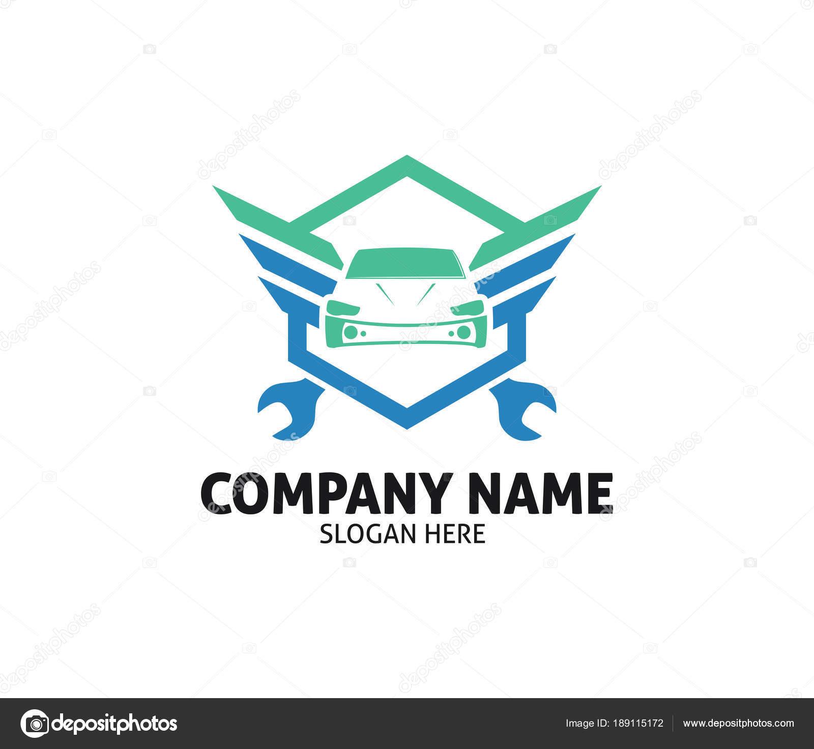 Autohändler Auto Pflege Reparatur Service Vektor Logo Design