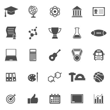 College icons on white background