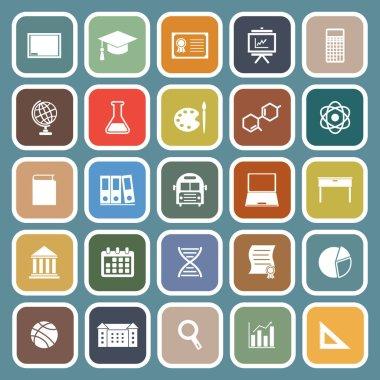 Education flat icon on blue background