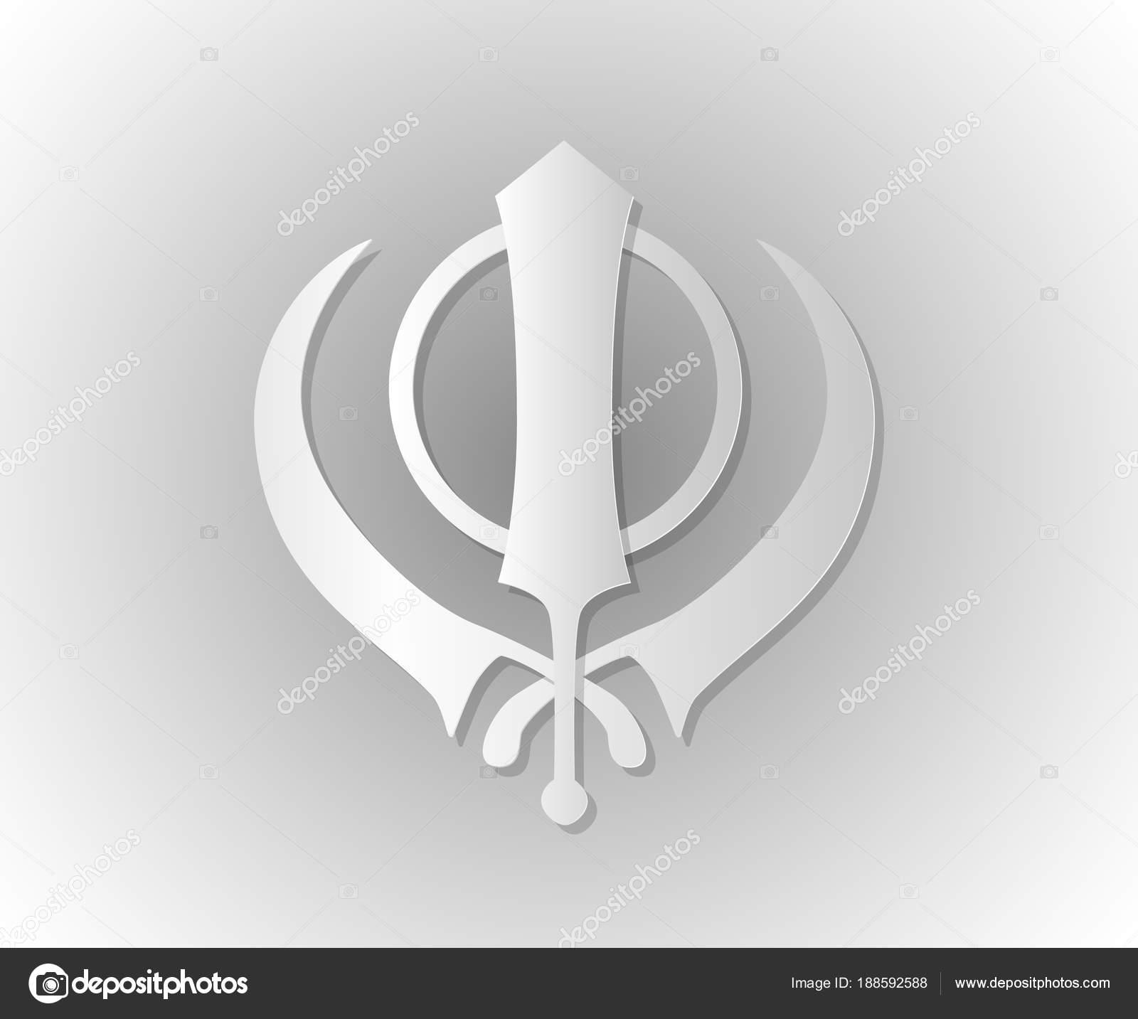 Symbol Of The Sikhs Khanda Stock Vector Kirucha 188592588