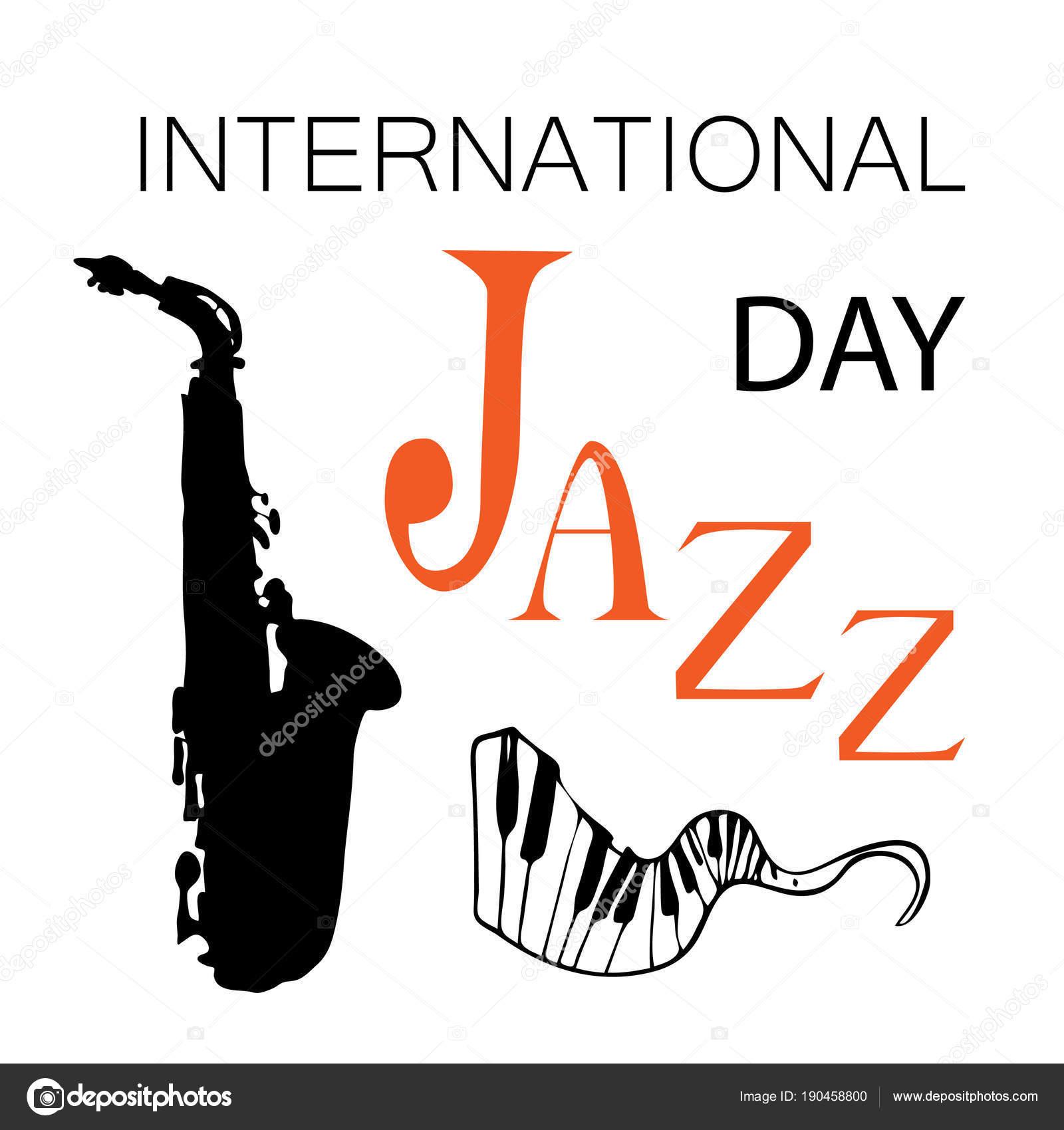 Internationalen Tag des Jazz-Vektor-illustration — Stockvektor ...