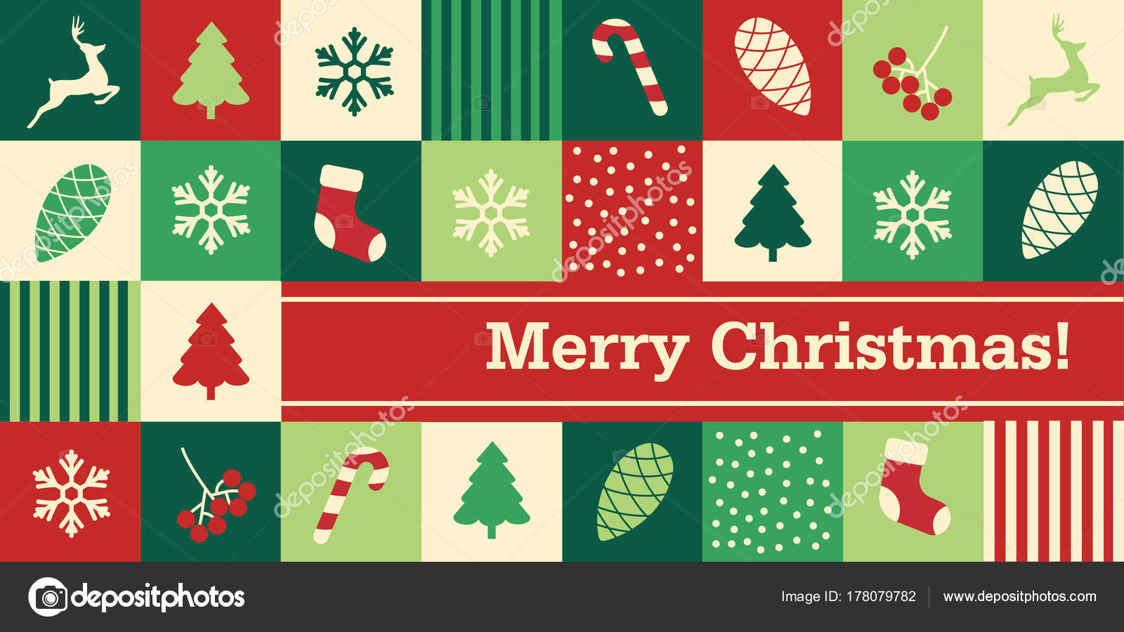 depositphotos 178079782 stock illustration vintage christmas card seamless pattern