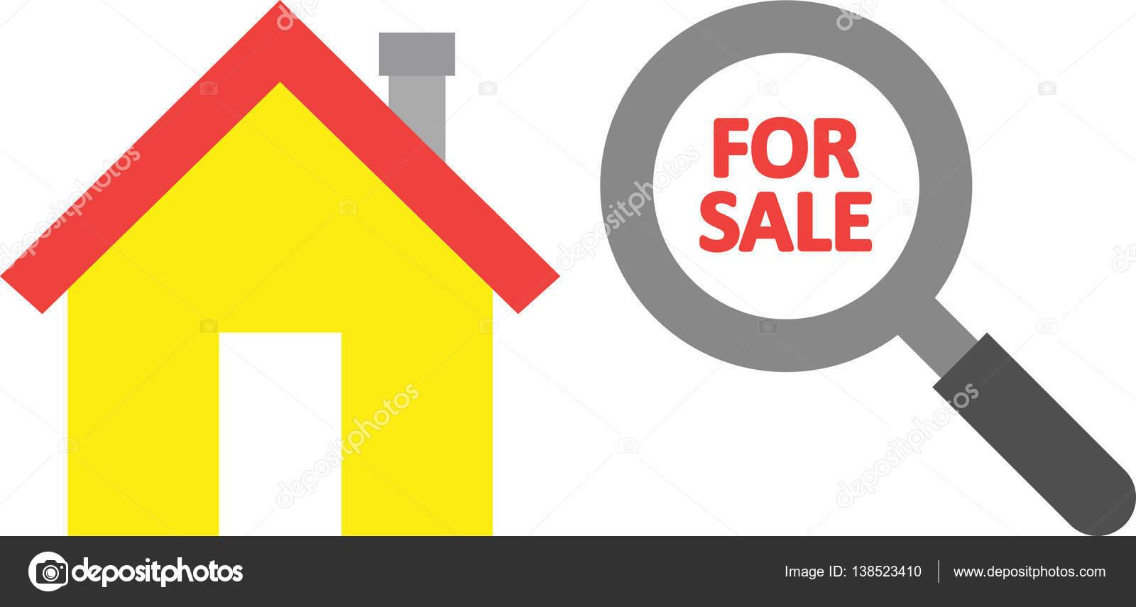maison vendre l int rieur de la loupe image vectorielle emrvectors 138523410. Black Bedroom Furniture Sets. Home Design Ideas