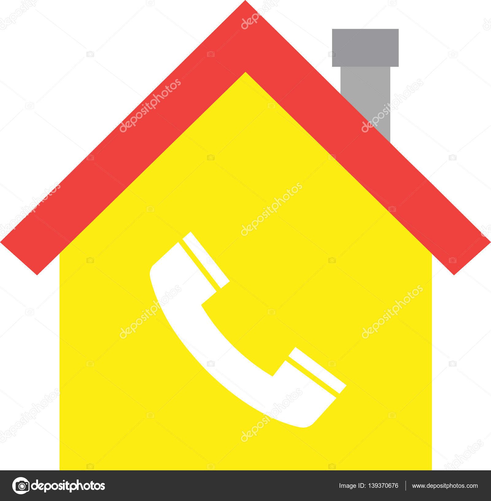 House With Phone Symbol Stock Vector C Emrvectors 139370676