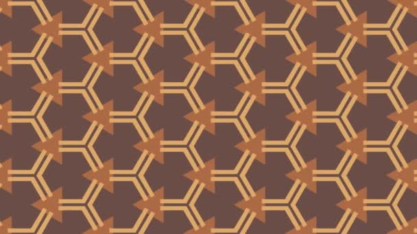 Animated seamless pattern design floating to the left side.