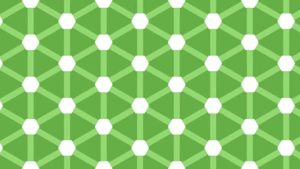 Animovaný bezešvý vzor design plovoucí na levé straně.