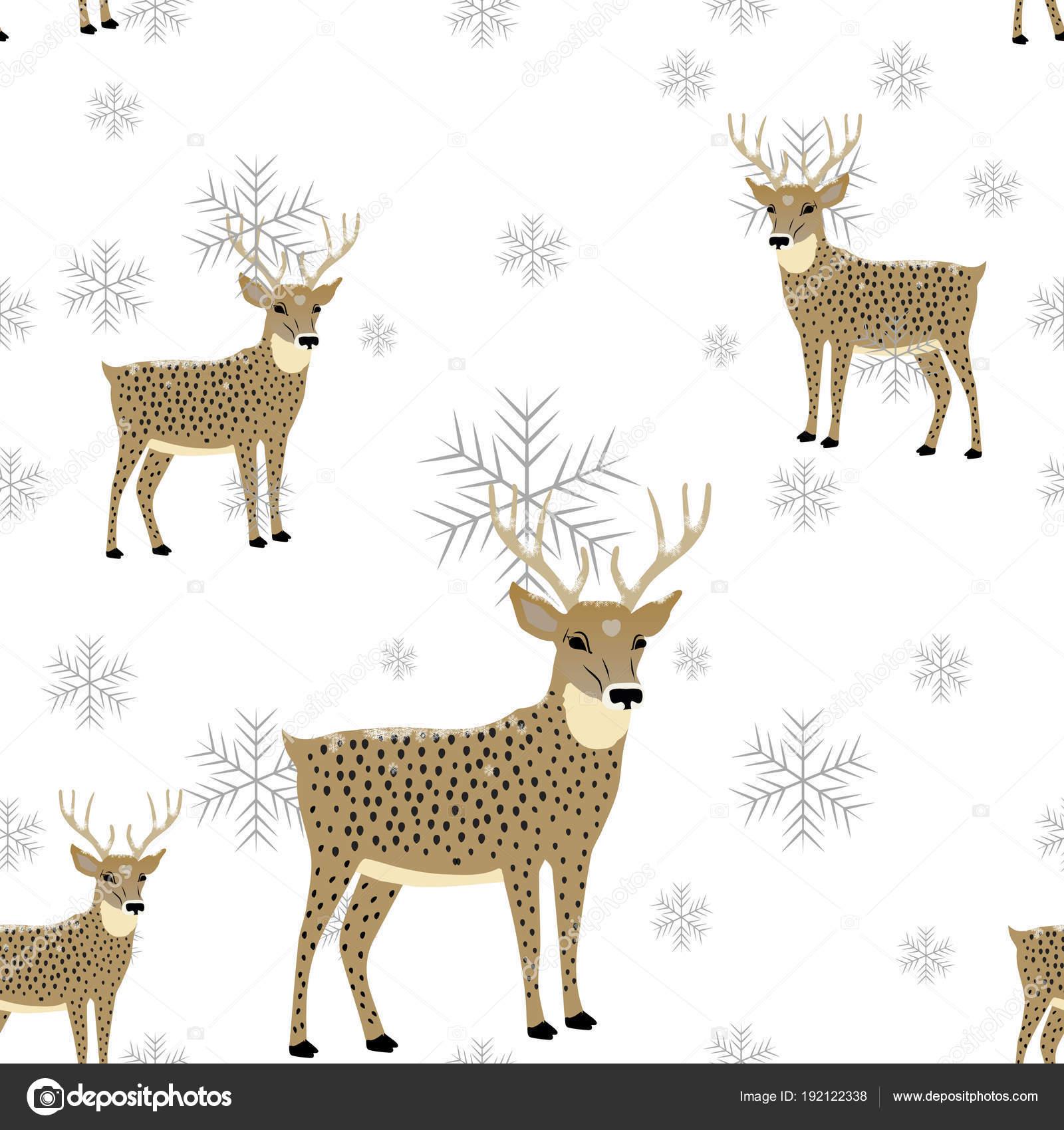 Diseño de invierno con renos y saludos. Ciervo con el cervatillo ...