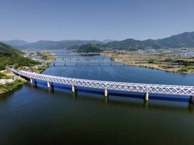 Various Bridges on Nakdong River between Samrangjin and Gimhae, South Korea, Asia
