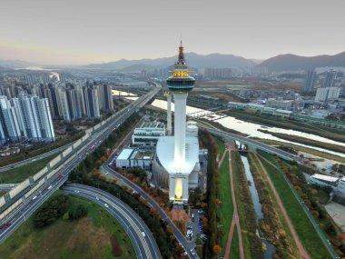 Sunset of Autumn Yangsan, South Korea, Asia