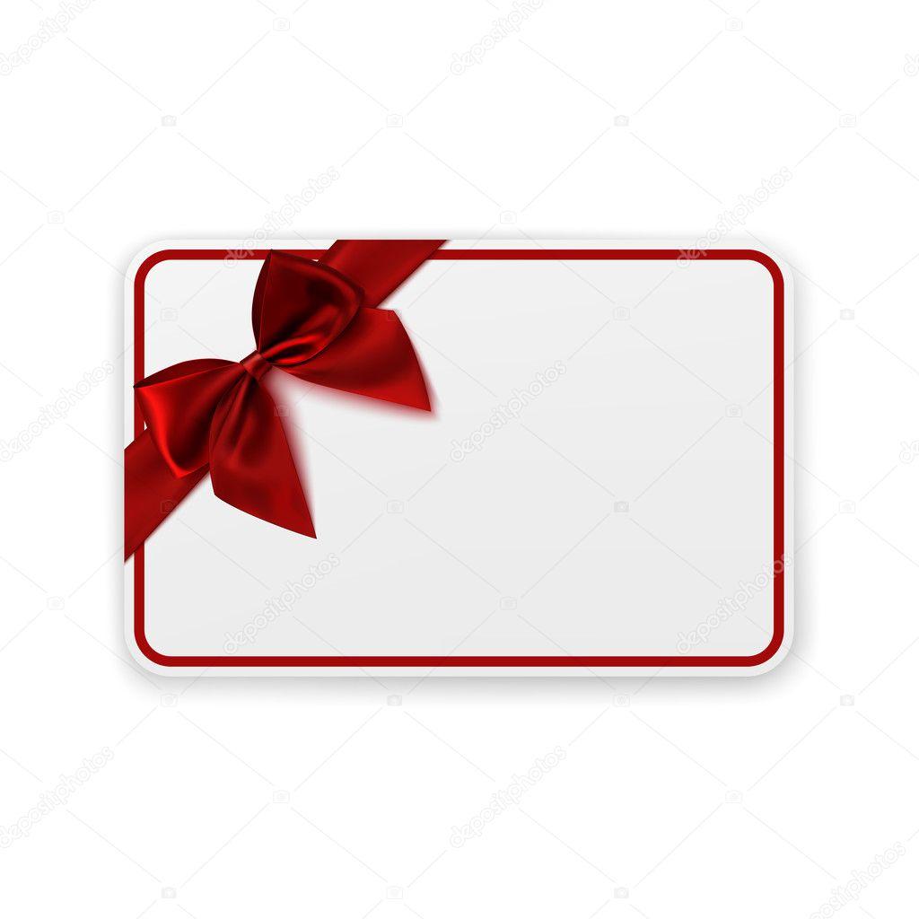 Modelo De Cart 227 O Presente Em Branco Branca Vetores De